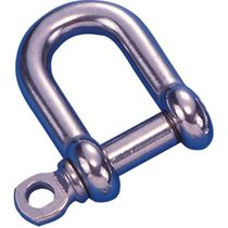 Straight shackle for sailboats / forged / stainless steel