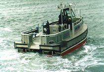 Catamaran cable and pipe handling boat / aluminum / hydro-jet