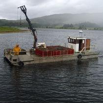 Catamaran aquaculture boat / hydro-jet