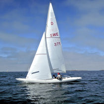 Mainsail / for one-design sport keelboats / Dragon / cross-cut