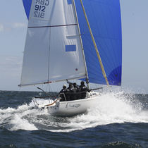 Mainsail / for one-design sport keelboats / J80 / radial cut