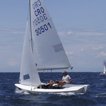 Mainsail / for sailing dinghies / Snipe / radial cut