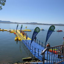 Floating dock / for leisure centers / for marinas / polyethylene