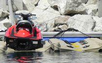 Floating dock / jet-ski drive-on / for marinas / polyethylene