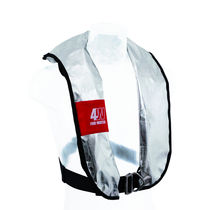 Self-inflating life jacket / fire-retardant