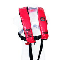 Inflatable life jacket / commercial / with safety harness