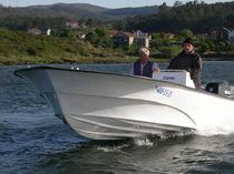 Outboard center console boat / center console / fiberglass / 12-person max.