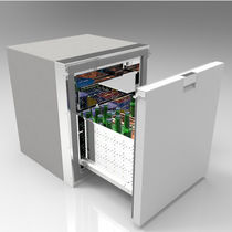 Boat freezer / recessed / stainless steel / drawer