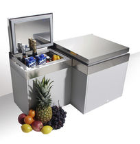 Boat refrigerator / for yachts / stainless steel / compressor