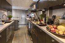 Yacht refrigerator / stainless steel / compressor / drawer
