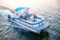 Inboard pontoon boat / sterndrive / tri-tube / 15-person max.