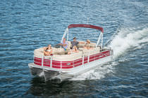 Outboard pontoon boat / tri-tube / 12-person max.