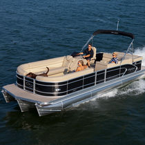 Outboard pontoon boat / tri-tube / 15-person max.