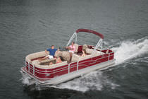 Outboard pontoon boat / sport-fishing / 10-person max.