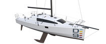 Cruising-racing sailboat / open transom / 2-cabin