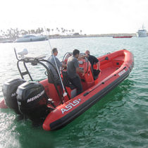 Outboard search and rescue boat / rigid hull inflatable boat