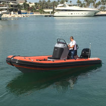 Inboard search and rescue boat / outboard / rigid hull inflatable boat