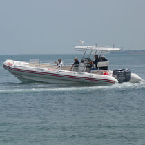 Outboard sightseeing boat / rigid hull inflatable boat