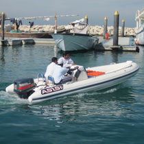 Outboard service boat / rigid hull inflatable boat