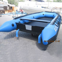 Outboard inflatable boat / foldable / fiberglass / 10-person max.