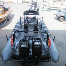 Outboard boat for military use / rigid hull inflatable boat / aluminum