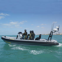 Rigid hull inflatable boat defense boat