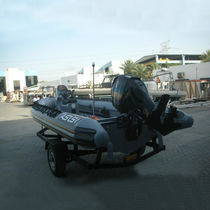 Outboard military boat / rigid hull inflatable boat / aluminum