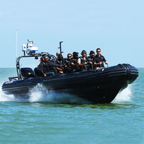 Outboard anti-piracy boat / rigid hull inflatable boat
