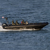 Outboard boat for military use / aluminum / rigid hull inflatable boat