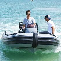 Outboard military boat / RHIB