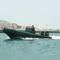 Outboard military boat / rigid hull inflatable boat