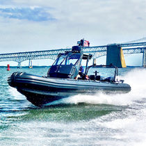Outboard boat for military use / rigid hull inflatable boat