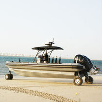 Outboard inflatable boat / twin-engine / RIB / amphibious