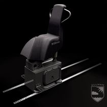 Helm seat / for boats / high-back / sliding