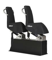 Jockey seat / for boats / with suspension / high-back