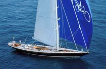 Cruising sailing super-yacht / classic / open transom / sloop