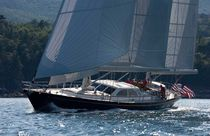 Cruising sailing yacht / classic / open transom / ketch