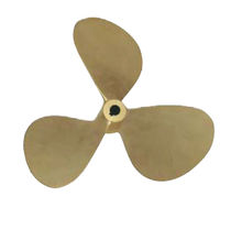 Boat propeller / fixed-pitch / propeller shaft / 3-blade
