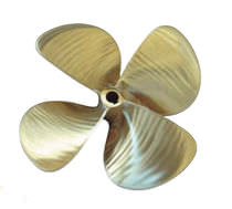 Boat propeller / fixed-pitch / propeller shaft / 4-blade