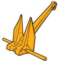 Danforth anchor / for ships