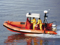 Outboard patrol boat / aluminum / rigid hull inflatable boat