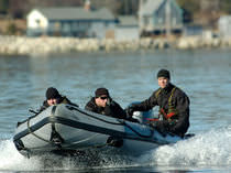 Outboard military boat / inflatable boat