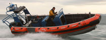 Outboard utility boat / aluminum / rigid hull inflatable boat
