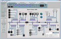 NMEA network design software / for boats