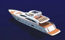 Cruising luxury super-yacht / flybridge / displacement