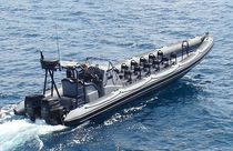 Twin-engine troop carrier / outboard / inflatable boat / rigid inflatable