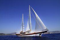 Cruising sailing yacht / motorsailer / open transom / 5-cabin