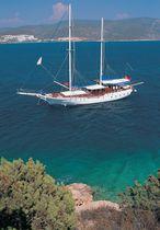 Classic sailing yacht / cruising / motorsailer / open transom