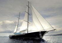 Cruising sailing super-yacht / open transom / 5-cabin