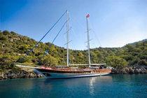 Classic sailing super-yacht / cruising / open transom / 10-cabin